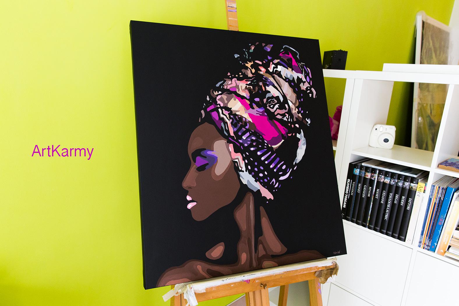 dipinto moderno ragazza africana