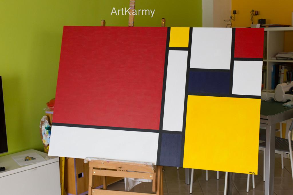 quadro moderno mondrian geometrico