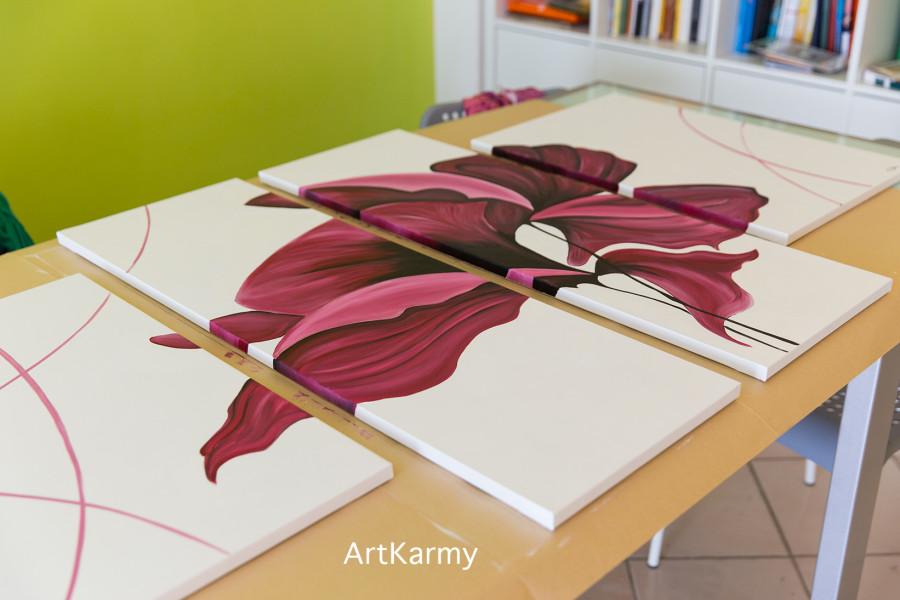 dipinto con fiori