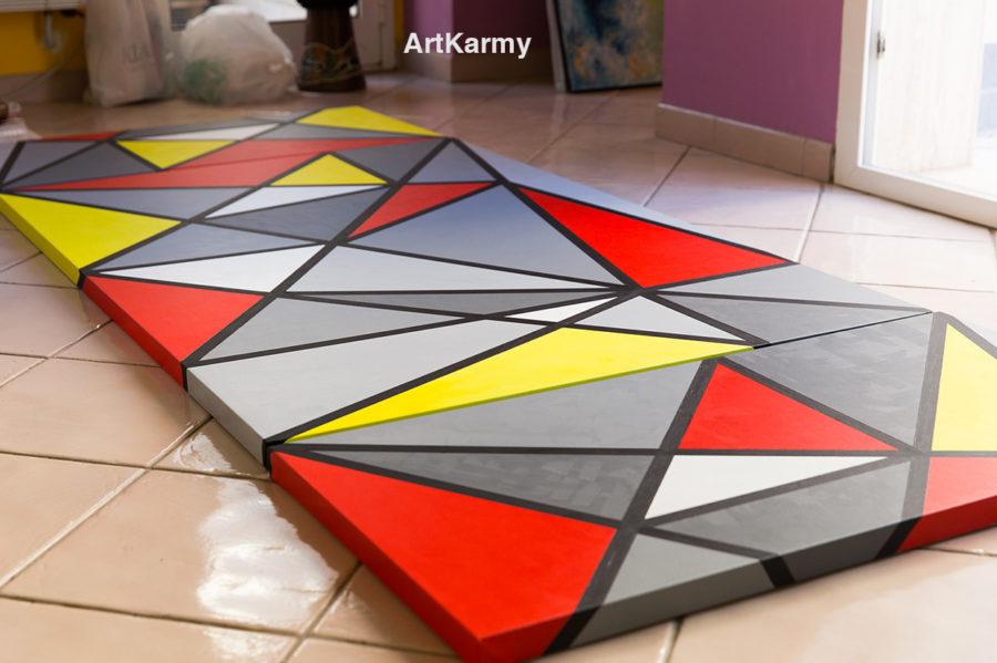 dipinto geometrico su commissione