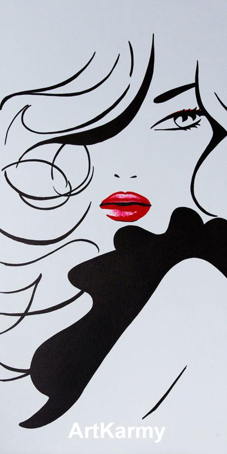 dipinto donna moderna