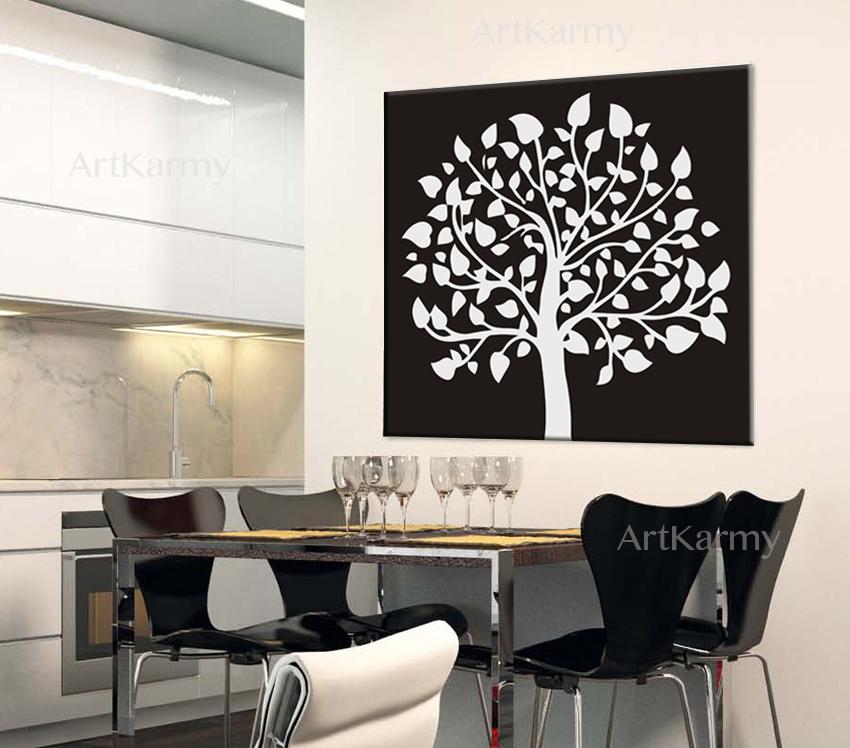 quadri moderni bianco e nero