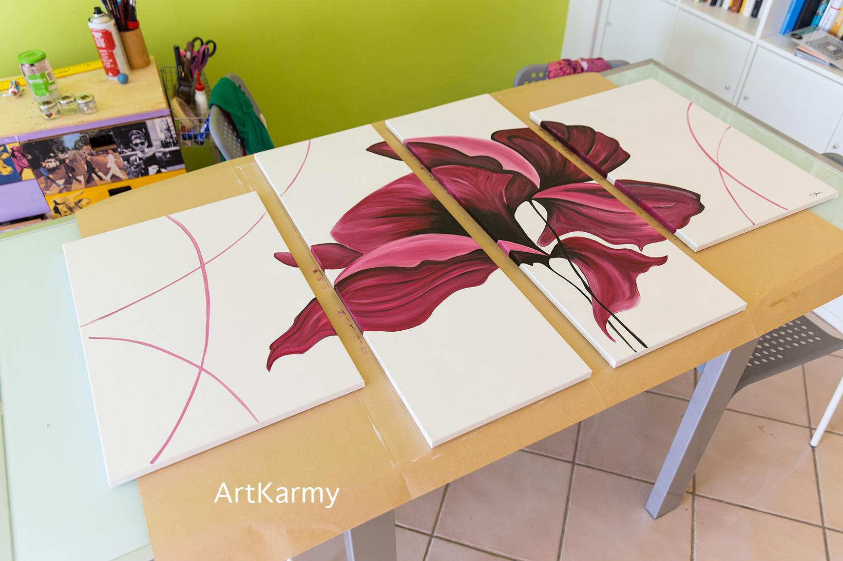 quadro moderno floreale