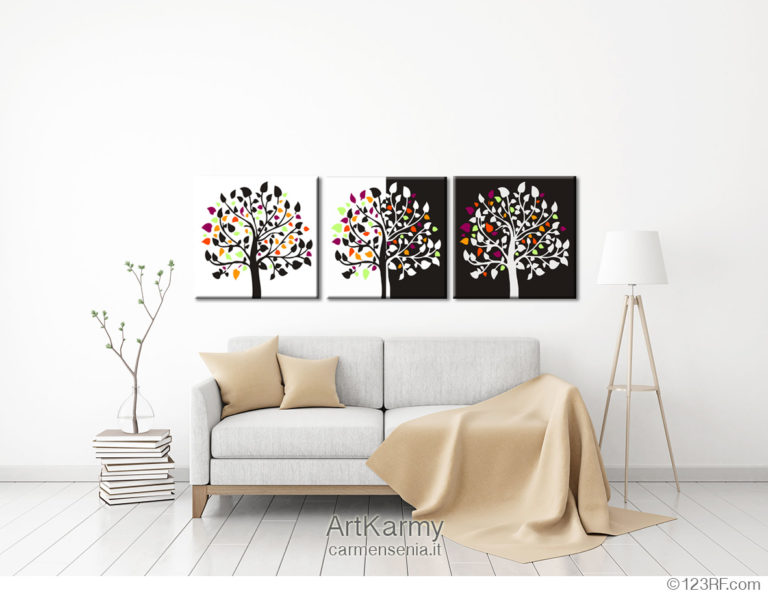 quadri moderni con fiori