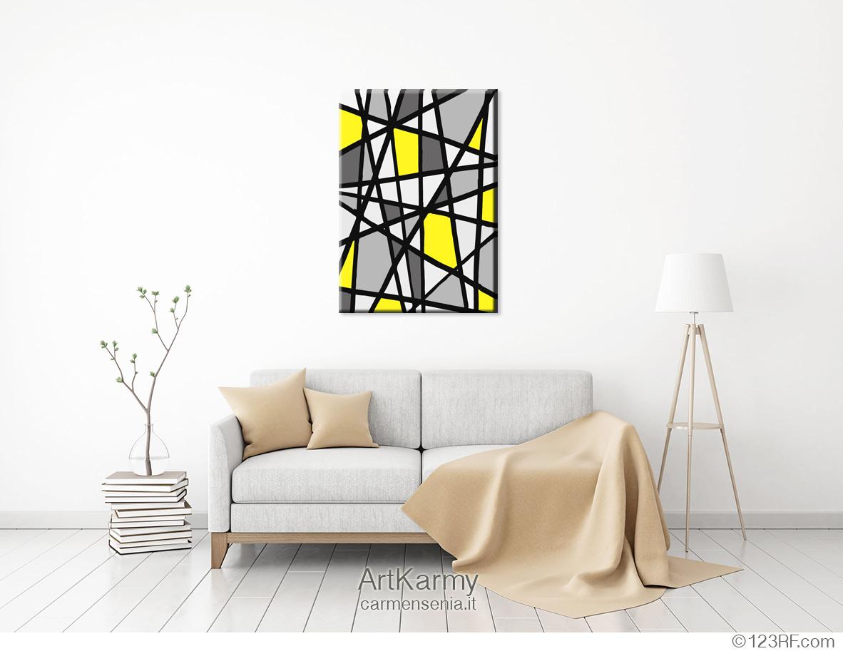 dipinto astratto geometrico