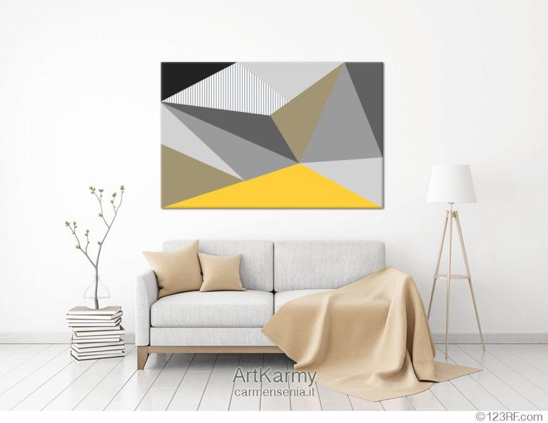 dipinto geometrico moderno
