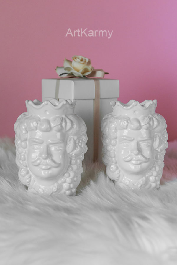 bomboniera matrimonio ceramica testa di moro