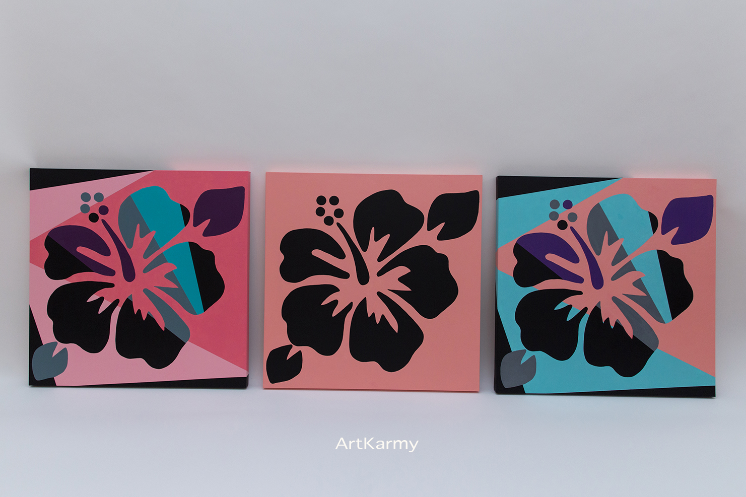 dipinti moderni papaveri