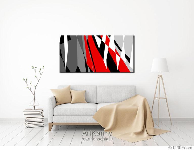 dipinto geometrico rosso