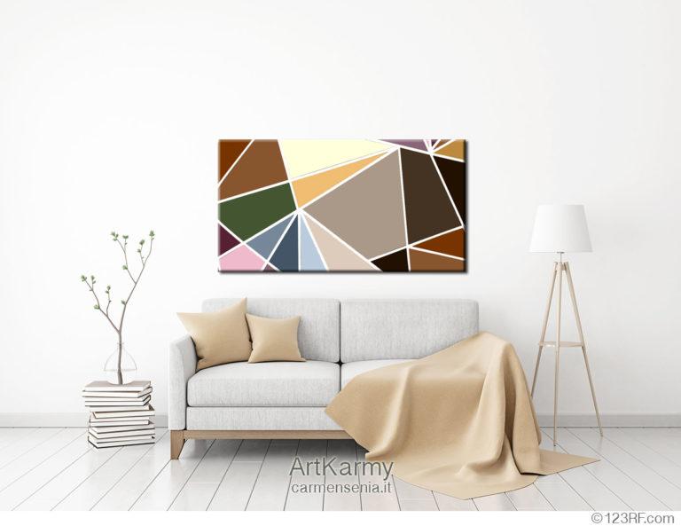 dipinto moderno geometrico