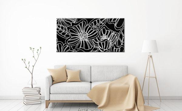 dipinto moderno papaveri
