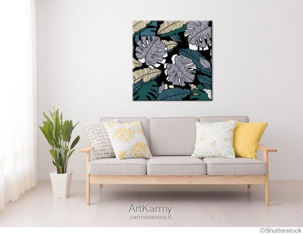 dipinto floreale tropicale