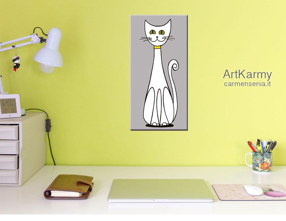 dipinto moderno gatto