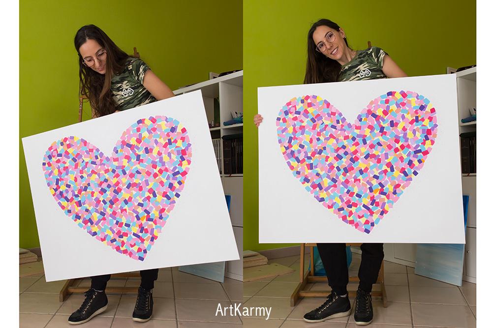 artkarmy dipinto cuore
