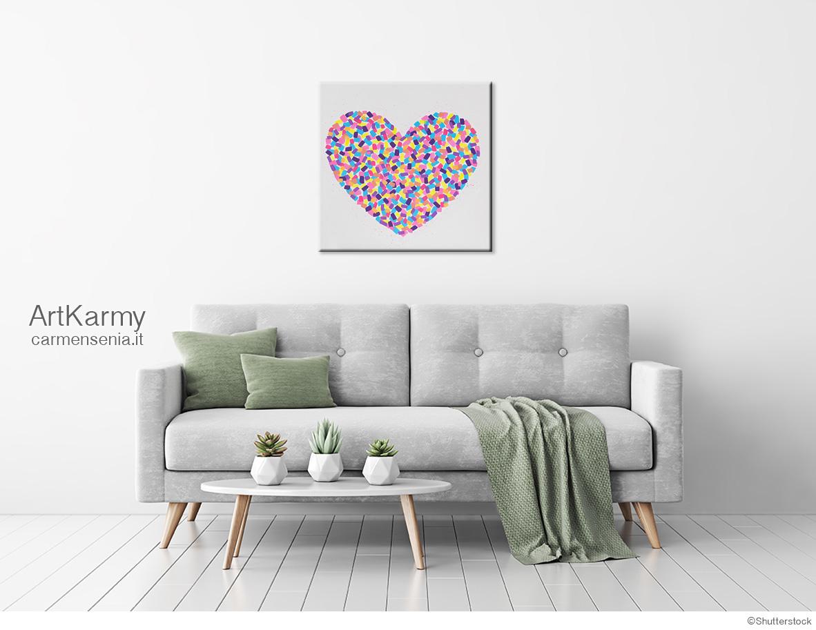 dipinto moderno con cuore