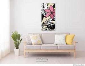 dipinto con fiore