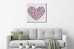 cuore allegro dipinto moderno