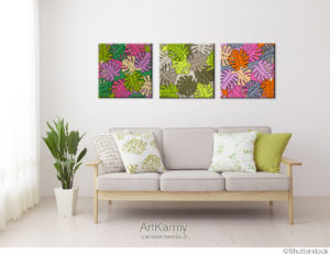 tris tropical quadri moderni