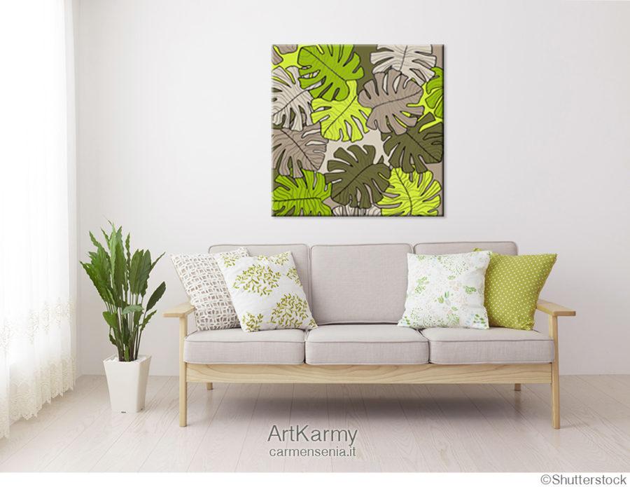 dipinto moderno tropical