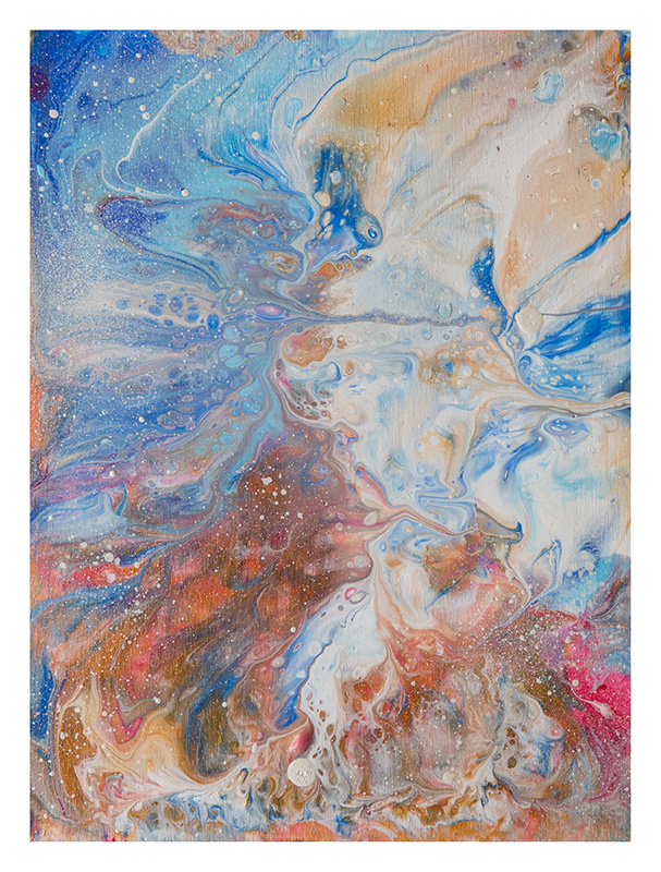 dipinti astratti mare