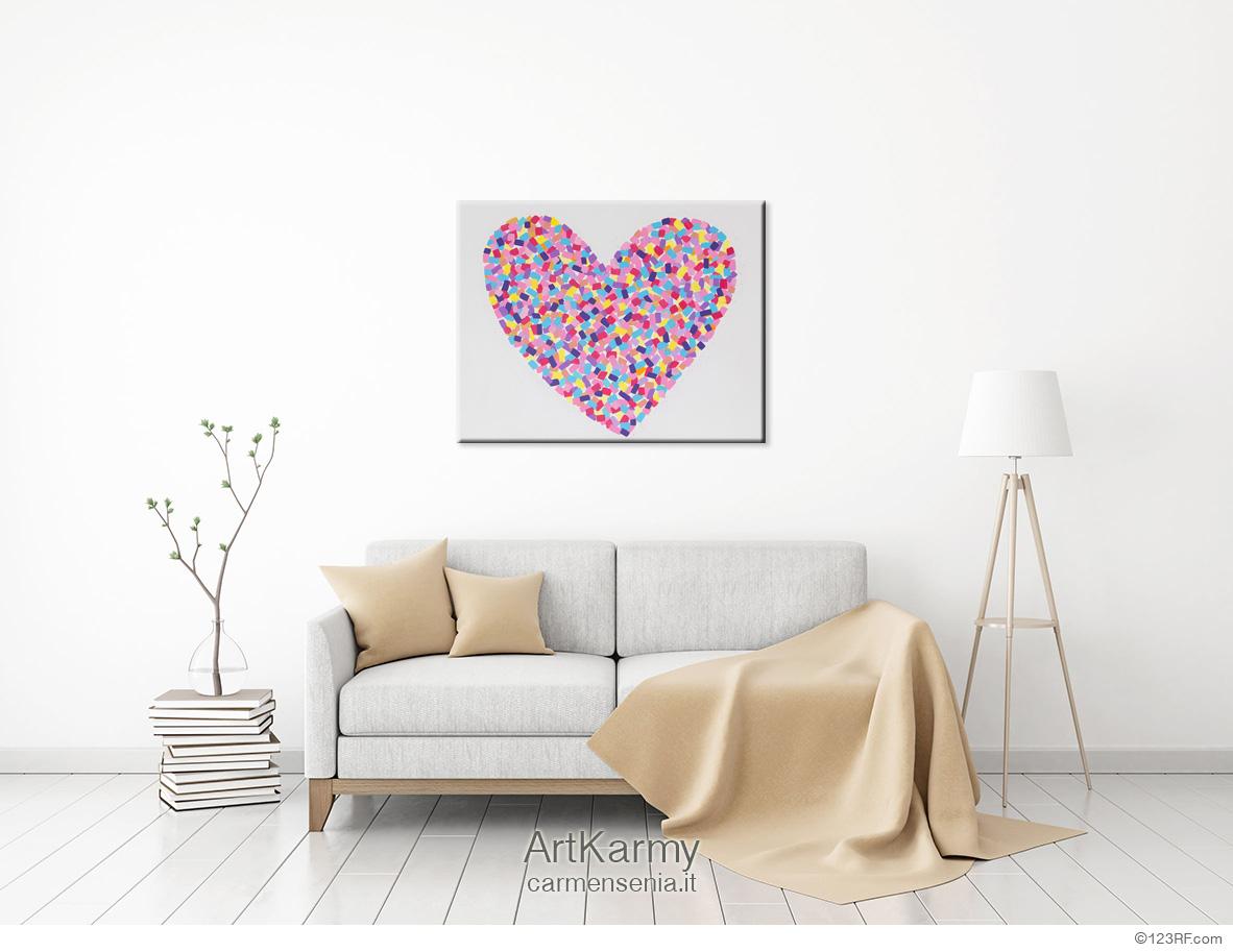 dipinto con cuore