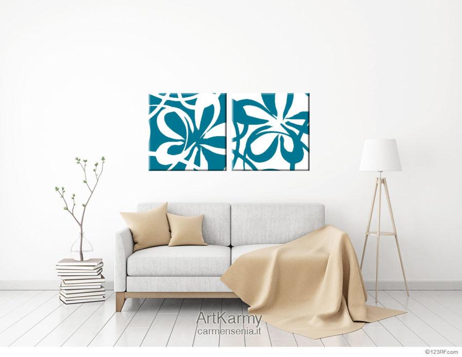 dipinti colore blu petrolio