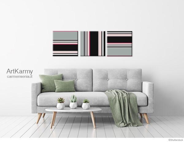 dipinto moderno a strisce