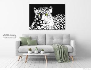 dipinto felino