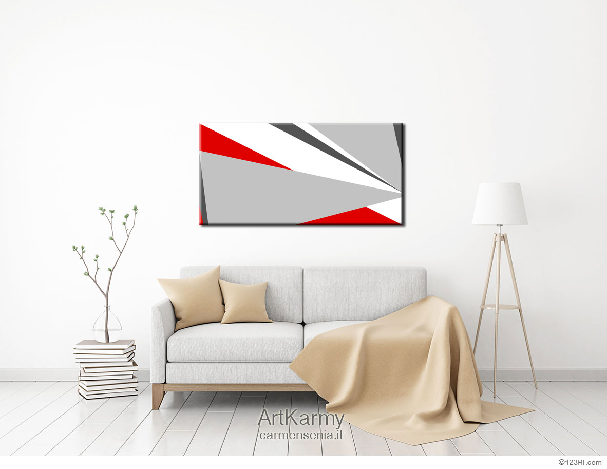 dipinto geometrico freccia
